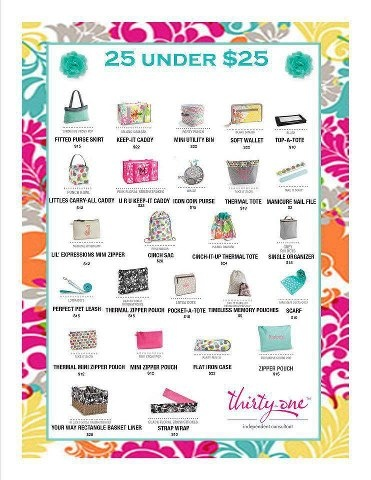 Thirty-One Gifts 25 under USD25 Thirty-One Pinterest