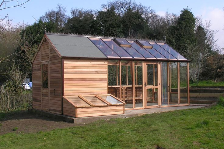 Shed greenhouse combination for the home pinterest Green house sheds