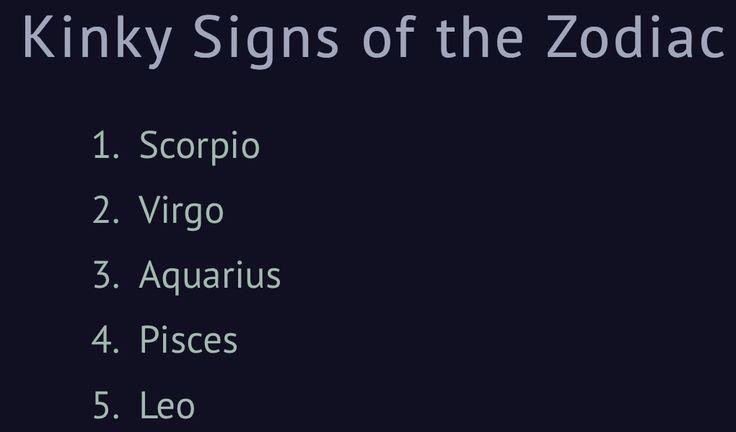 Zodiac Signs Kinky