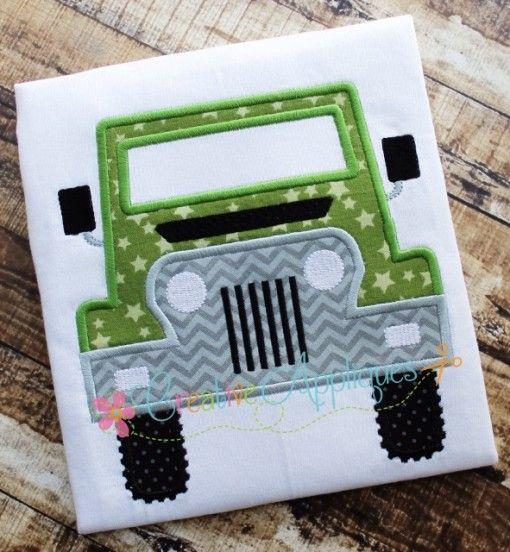Jeep applique vehicles embroidery designs pinterest