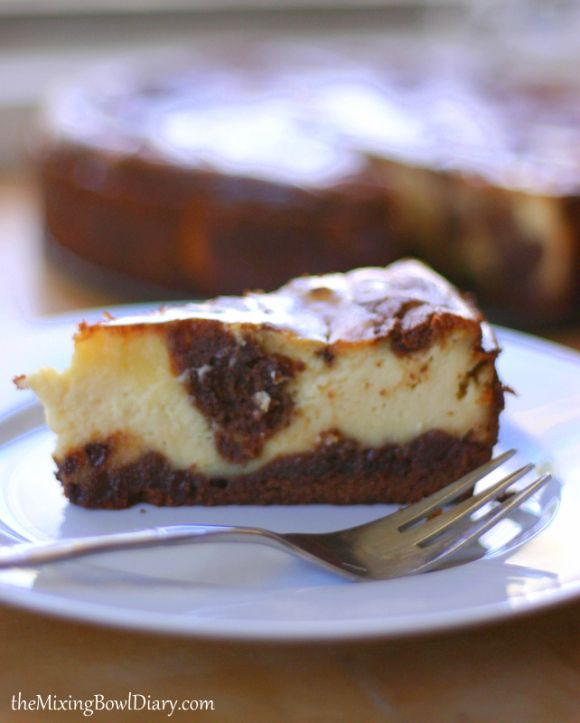 Dairy & Gluten Free} Brownie Swirl Cheesecake | FROM SCRATCH CLUB