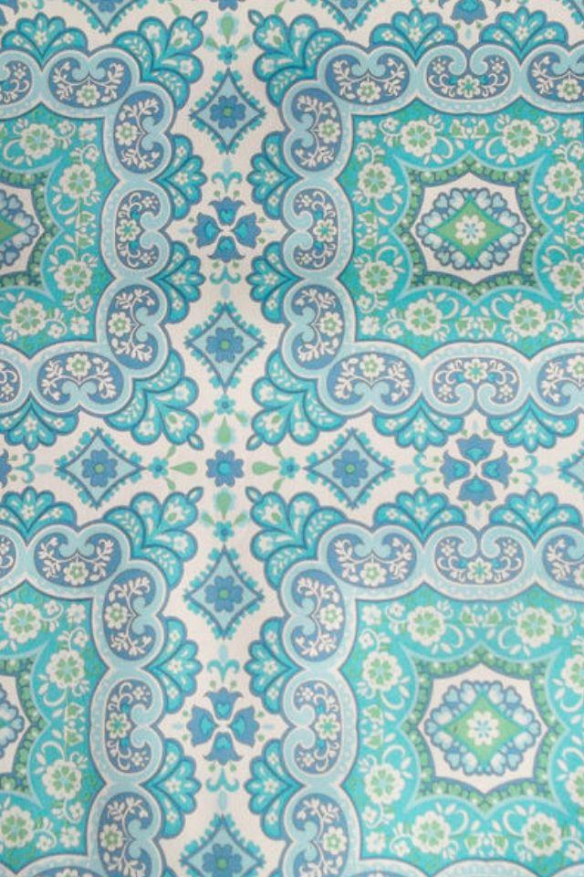 Vintage wallpaper love turquoise pinterest - Turquoise wallpaper for walls ...