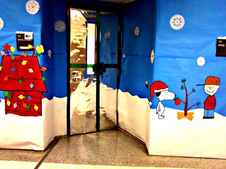 Christmas Door Decorating Contest | PreK classroom | Pinterest
