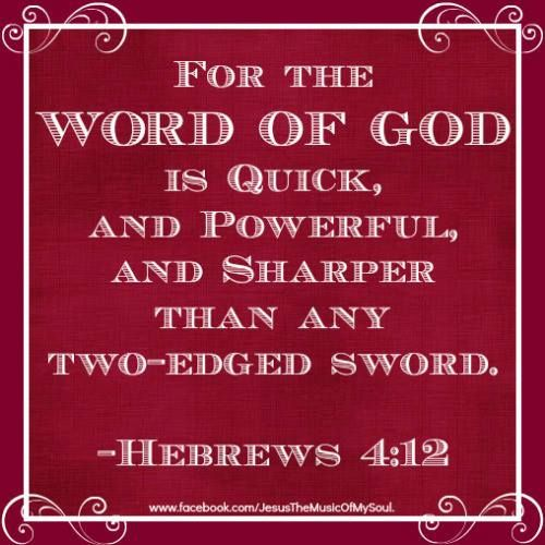 HEBREWS 4:12 | The Way, the Truth, the Life | Pinterest