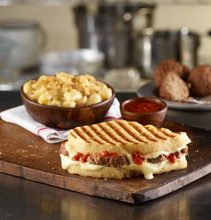 Sliced Meatball Panini - a signature sandwich from Corner Bakery Cafe