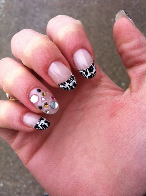 my zebra nails!