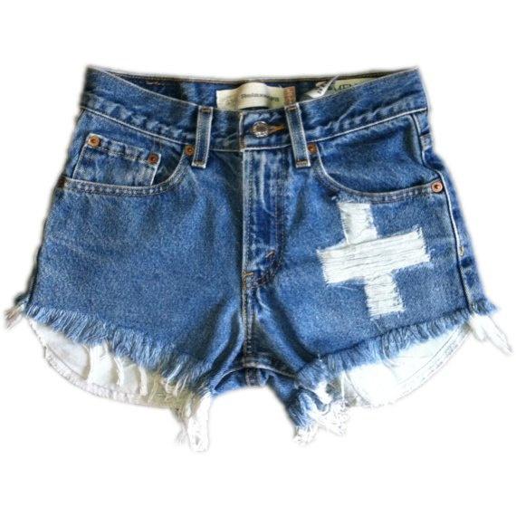 Vintage, cut off,  jeans,  shredded,  damaged,  fray,  grunge, omen eye, short, shorts $41.99