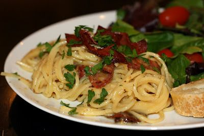 Creamy Pasta with Crispy Salami | Recipes to try... | Pinterest