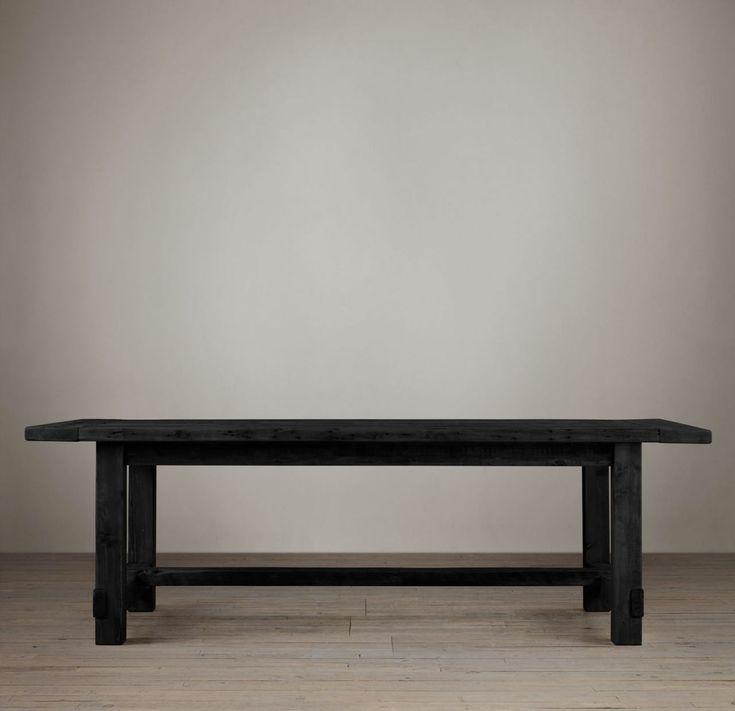 restoration hardware farmhouse salvaged table black : 4012e2bf8f1b3fe1f569e390d755aeca from pinterest.com size 736 x 711 jpeg 29kB