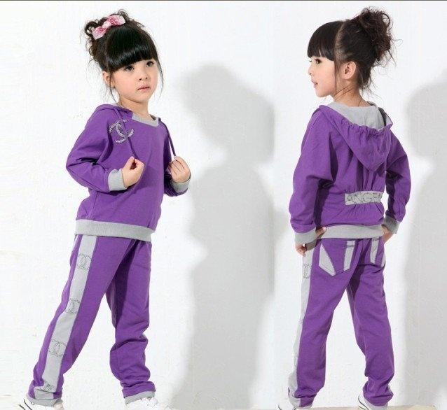 Girl s purple sweat suit cute kids ideas pinterest