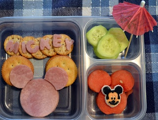 Mickey bento | Food for kids | Pinterest
