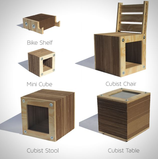 Compressed Cardboard And Wood Furniture Seating Pinterest