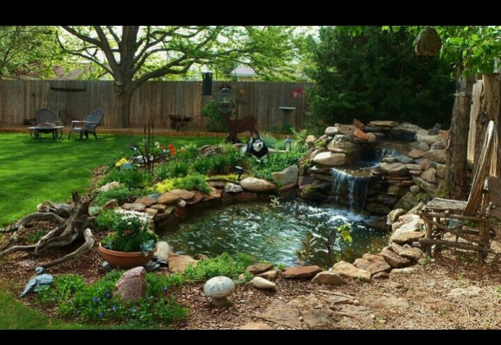 Backyard retreat goddess retreat pinterest for Koi pool thornton