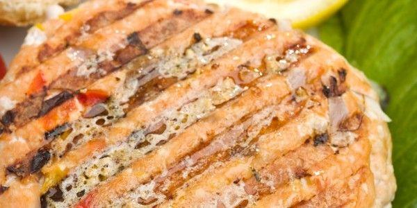 Rosemary Salmon Burgers | An Italian in the Kitchen... | Pinterest