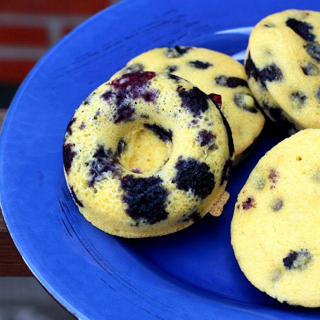 blueberry polenta muffin tops