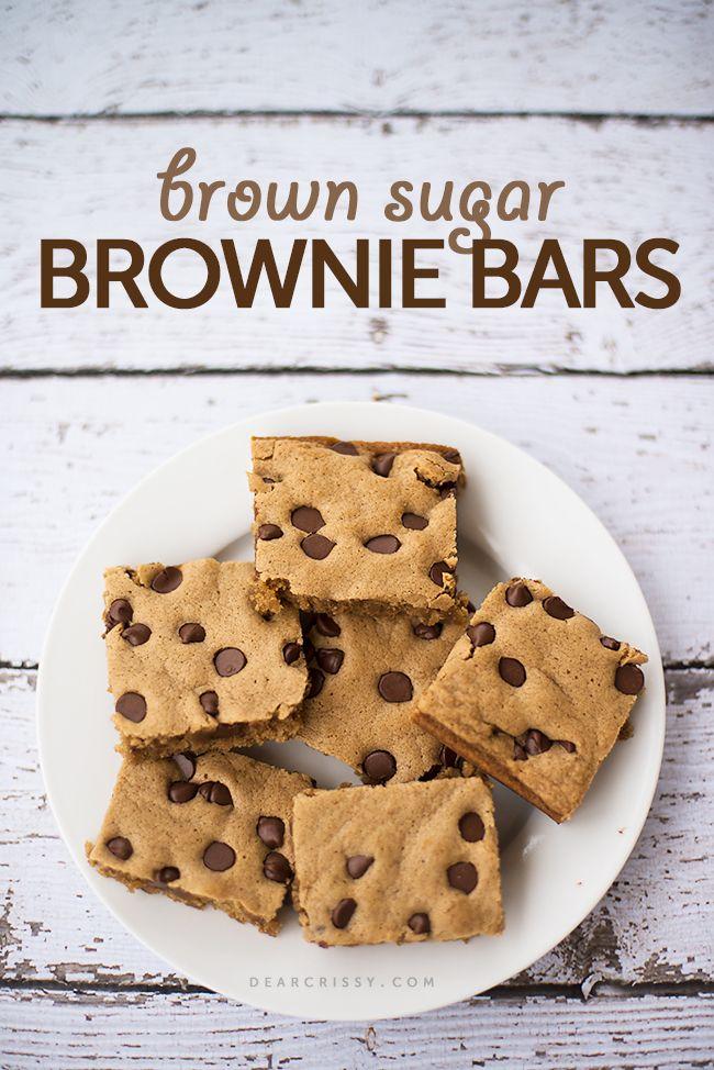 Brown sugar brownie bars | N!FY Desserts | Pinterest