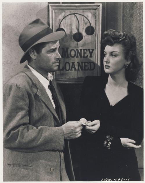 wehadfacesthen: Tom Neal and Ann Savage, publicity shot for Detour