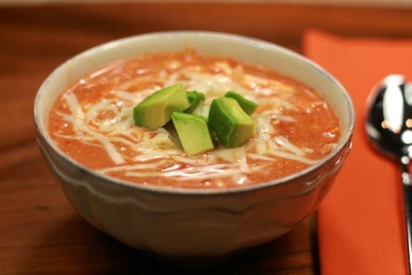 CROCK POT CHICKEN ENCHILADA SOUP | Calories Removed! | Pinterest