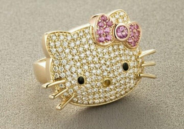 gold hello kitty ring ʝє�є�я� pinterest