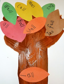 fall leaf word family trees