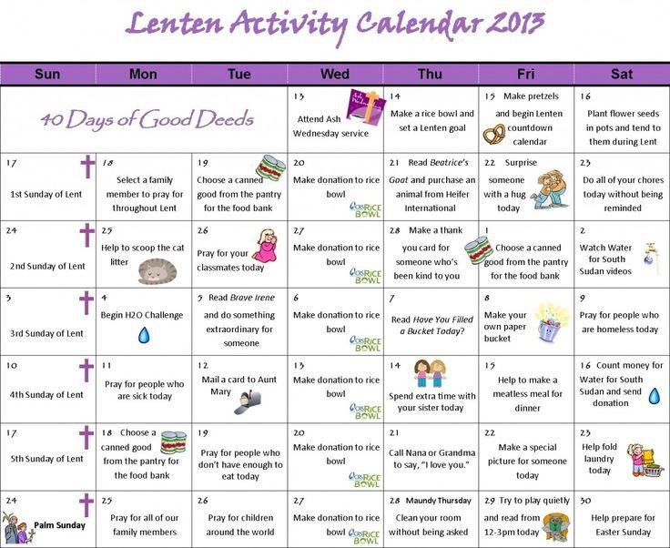 """... Results for """"40 Day Calendar Lenten Printable"""" – Calendar 2015"""