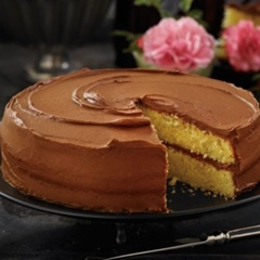 ... with a luscious dark chocolate frosting that's simply exquisite