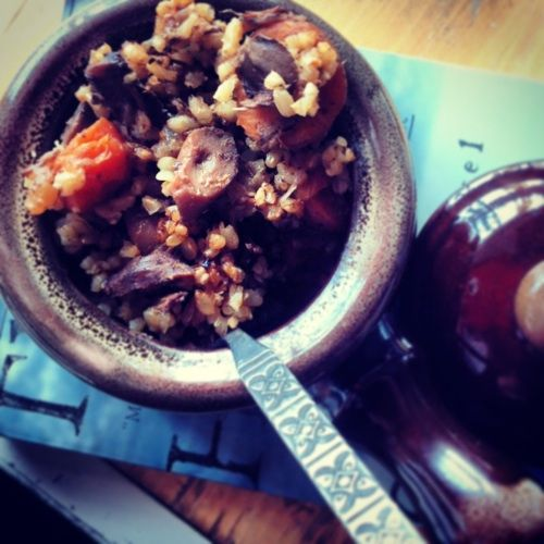 Hearty and Healthy; Steak, Mushroom and Rice Stew