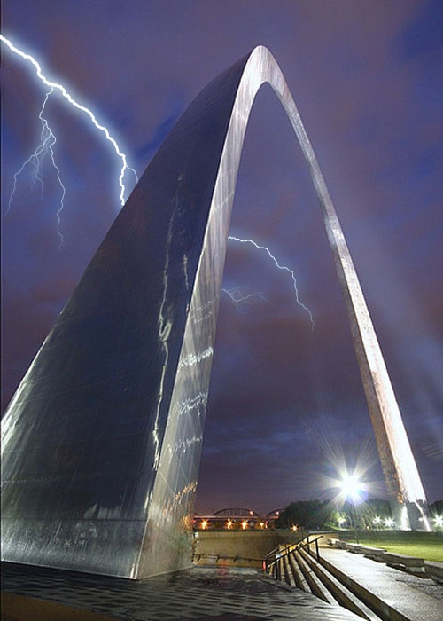 St louis arch night lights pinterest for St louis architecture