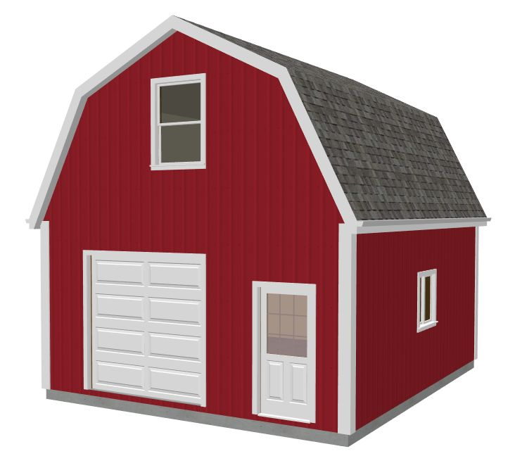 20 x 24 gambrel shed plans