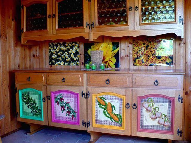 Декорирование старого кухонного гарнитура своими руками 91