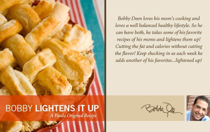 Bobby's Lighter Chicken Pot Pie on PaulaDeen.com....made this, yum ...