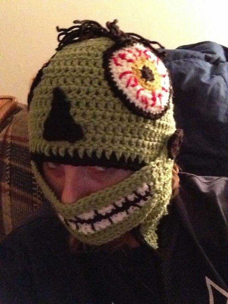 Crochet zombie hat by novagirl10 Crochet Pinterest