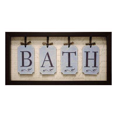 Bath wall decor craft ideas pinterest for Bathroom ideas kohl s