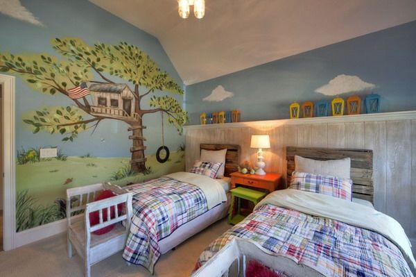 Kids Bedroom Wall Murals Delectable Inspiration