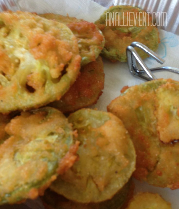 Fried Green Tomatoes dipped in buttermilk and cornmeal