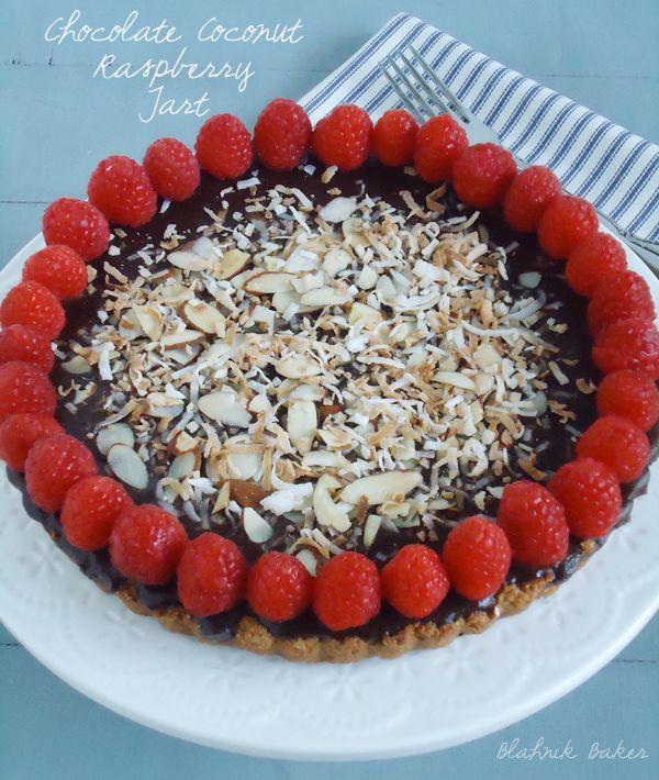 Chocolate Raspberry Coconut Almond Tart | ~ Different Desserts ~ | Pi ...