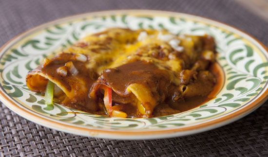 Chili Gravy Enchiladas - Macheesmo