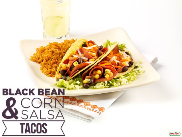 Black Bean and Corn Salsa Tacos #hormelfoods #recipe