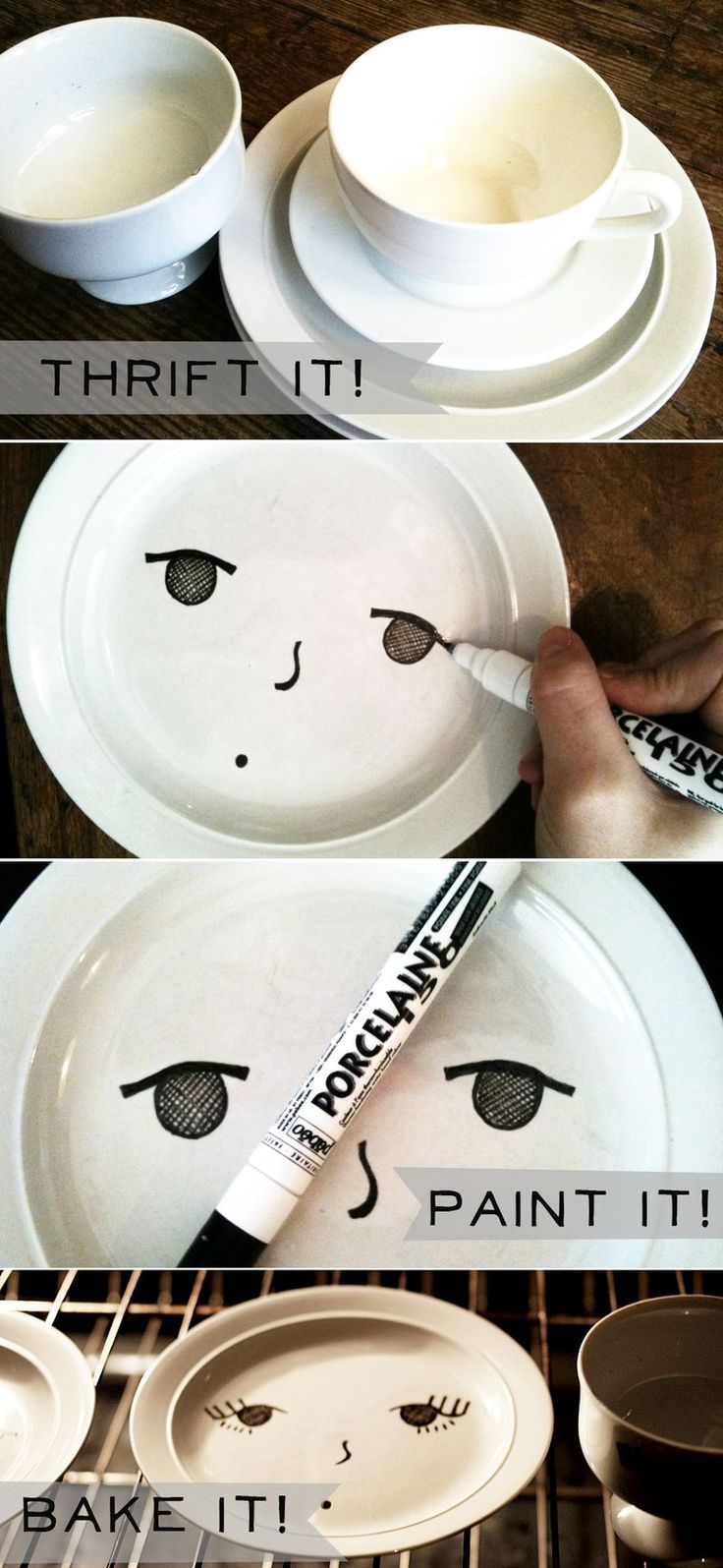 Plates with Pebeo Porcelaine paint