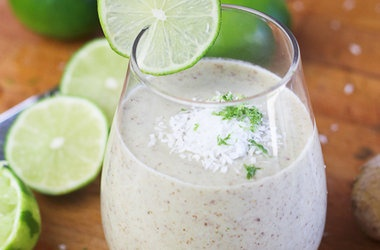 Lime, Ginger And Coconut Smoothie Recipe — Dishmaps