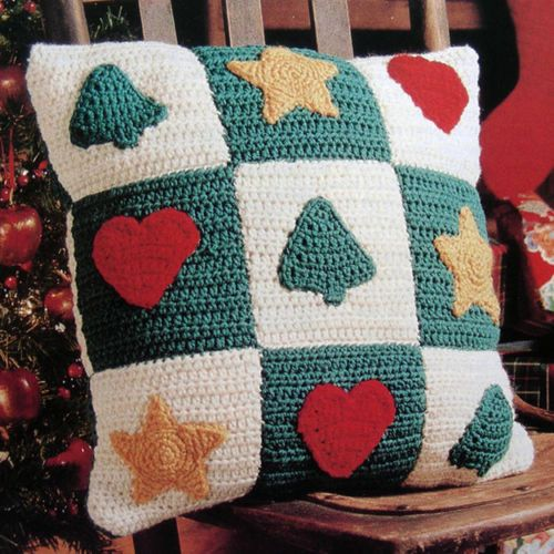 Patchwork Christmas Pillow ~ CROCHET PATTERN ONLY ~ Star ...