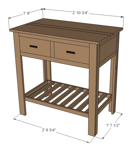 Elegant Free Woodworking Plans  DIY Console Table