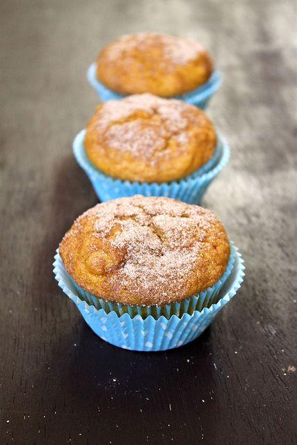 Pumpkin Doughnut Muffins | autumn food & treats | Pinterest