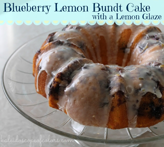 Kaleidoscope of Colors: Blueberry Lemon Bundt Cake with Lemon Glaze