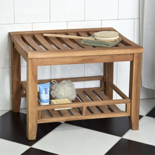 Teak Bench Bathroom Pinterest