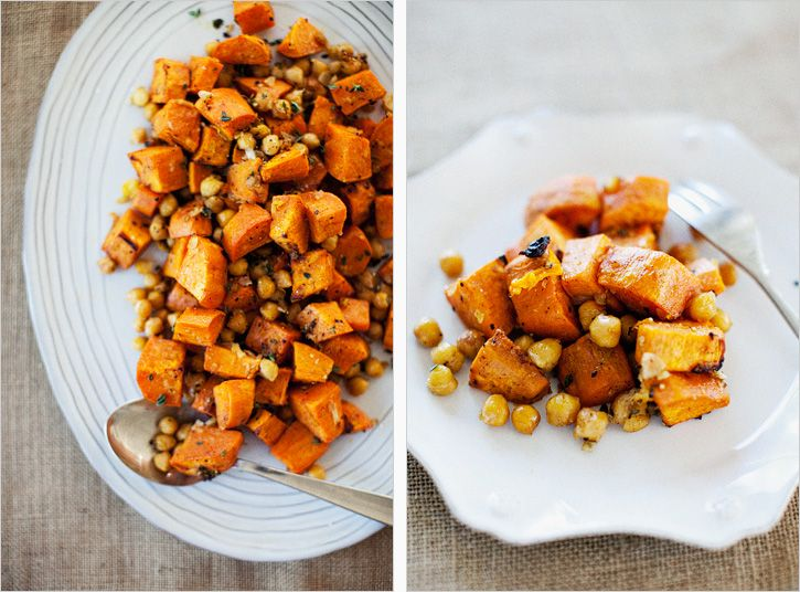 spiced sweet potatoes and chickpeas-good! I made as a side dish, but ...