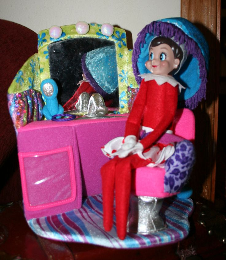 Trixie getting her hair done | Elf on the shelf ideas | Pinterest