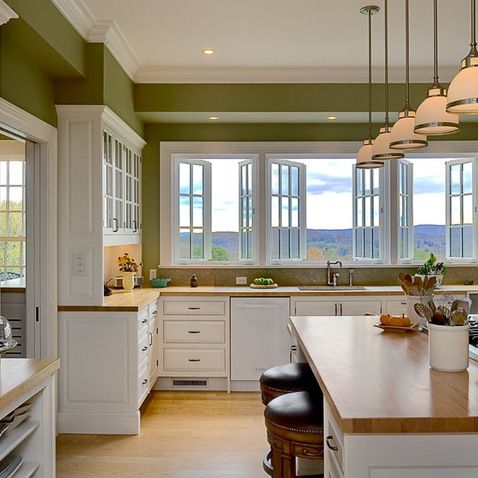 Green Kitchen Walls Extraordinary With Kitchen with Green Walls Pictures