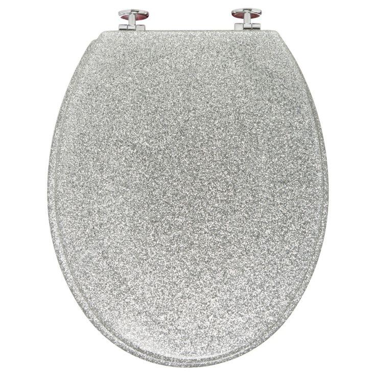 croydex silver bling toilet seat. Black Bedroom Furniture Sets. Home Design Ideas