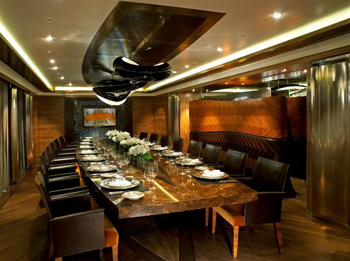 palladium interior dining area boats and yachts pinterest